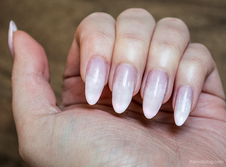 Classic white french manicure
