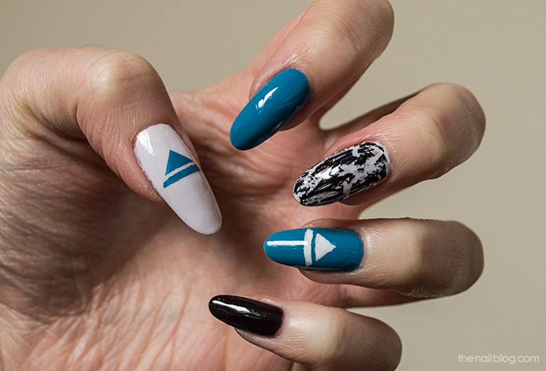 Thirty Seconds to Mars nail design