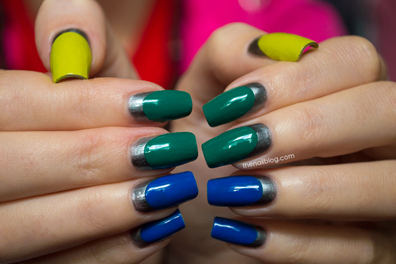 Multicolour Magnetic Ruffian Nails