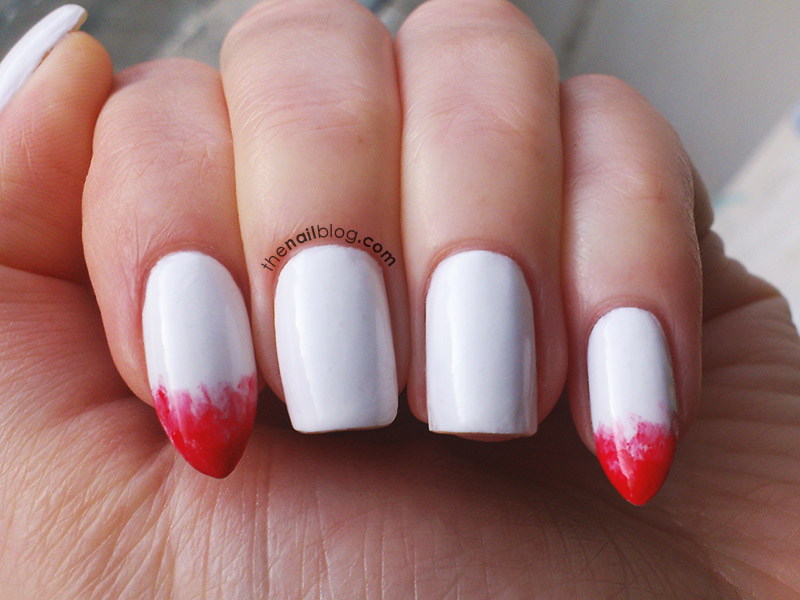 Vampire fangs nail art